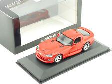 Minichamps 430144022 DODGE VIPER Coupé Rouge 1993 1:43 Nouveau neuf dans sa boîte 1602-17-24