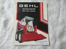 Gehl 3310 3410 Skid Steer Loader Brochure