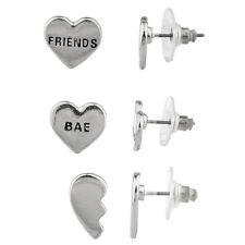 Lux BAE BFF Broken Heart Best Friends Forever Multiple Earring Set.