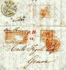 More details for gb ireland cover maritime *paid at derry/british/foreign* 1846 italy genoa a4g74