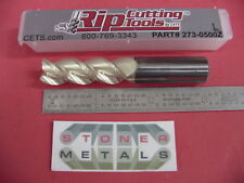 "1/2"" 3 FLUTE CARBIDE ZrN COATED LONG END MILL High Performance USA 273-0500ZL"