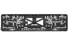 Chevrolet 2xECHTE 3D-Effekt Kennzeichenhalter Nummernschildhalter