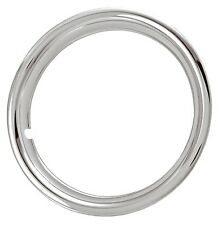 """17"""" CHROME PLATED, STAINLESS STEEL TRIM RINGS, BEAUTY RINGS SET OF 4 ~NEW"""