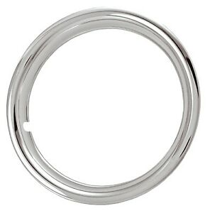 """17"""" CHROME PLATED STAINLESS STEEL TRIM RINGS BEAUTY RINGS SET OF 4, 1 3/4"""""""