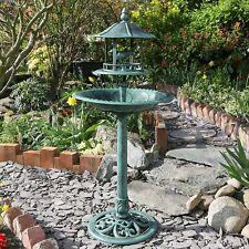 Bird Bath & Feeder Traditional Pedestal Free Standing Garden Bird Outdoor Table