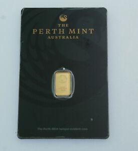 Black Swan 1 gram .9999 GOLD Perth mint in Assay Certificate