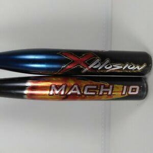 Lot/Bundle Of 2 Demarini Little League Bats Mach 10 Xplosion
