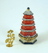 NEW FRENCH LIMOGES BOX GOOD FORTUNE CHINESE PAGODA REM. LUCKY CHARM GINGKO TREE