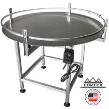 """Fortex Stainless Steel 36"""" Dia. Accumulating Rotary Table"""