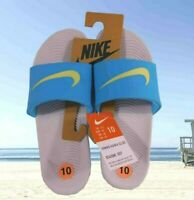 New Nike Womens Kawa Slide Sky Grey Limelight Blue Fury Sandals Sz 10 834588 007