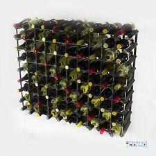 Cranville wine rack storage 90 bottle Black wood and metal assembled