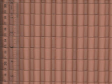 Dollhouse Spanish Tile Plastic Pattern Roof Sheet
