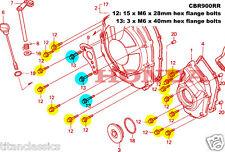 CBR900RR (92-1999) TITANIUM 18 bolt Clutch cover kit.