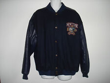 XL Mens NYC 5 Boroughs Div Champions Bomber Style Jacket Dk Blue Steve & Barry's