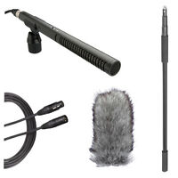 Rode NTG2 Shotgun Microphone Boom Kit w/ Boompole, Deadcat & 20' XLR Cable
