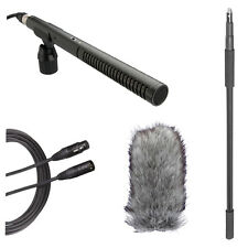 Rode NTG2 Shotgun Microphone Boom Kit w/ Boompole, Deadcat & 20' XLR Cable