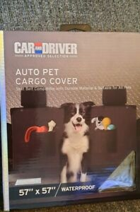 """CAR & DRIVER AUTO PET CARGO COVER WATERPROOF SUITABLE FOR ALL PETS  57""""×57"""" NIB"""