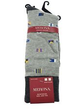 Merona Reenforced Heal & Toe Grey Dress Socks - Shoe Size 10-13 - 1 Pair - NEW