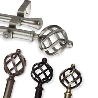 """Double Curtain Rod #42 choose from 4 color, 28""""-170"""""""