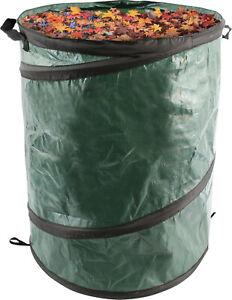 Green Heavy Duty Pop-Up Reusable Garden Disposal Waste Bag Carrier - Large 90L