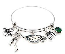 Philadelphia Eagles NFL High Quality Charm Expandable Football Bracelet Jewelry
