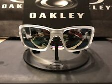 New oakley crankcase Matte Clear / Black iridium Polarized & Chrome Icons