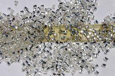 8/0 Triangle Toho Glass Seed Beads 12- Silver Lined Crystal  28 grams # 21