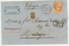 France cover 1866 Bordeaux to Malaga (SP)