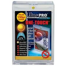 5 ULTRA PRO One Touch Magnetic Thick Holders 130pt UV Gold Magnet New