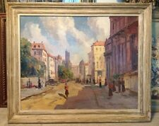 Spectacular Painting Oil on canvas Morning In Paris Ernest Cramer J.J. Enwright