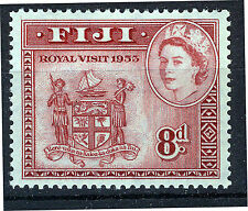 FIJI 1953 ROYAL VISIT BLOCK OF 4 MNH