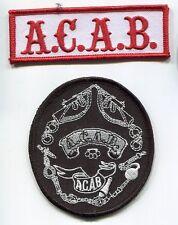 CAFÉ RACER ROCKERS TON-UP BOYS 59 OUTLAW BIKER PATCH COLLECTION: A.C.A.B. e