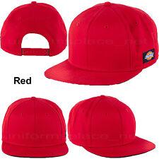 Dickies Hats Snap back Flat Visor Baseball Cap Dickies Logo Camo 2-tone Colors