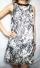 Heine Dress; Pattern; Size UK 8; D 34; Pattern Black & White
