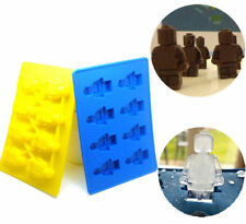 DIY Robot baking cookies chocolate cake silicone mold ice silicone mold Blue