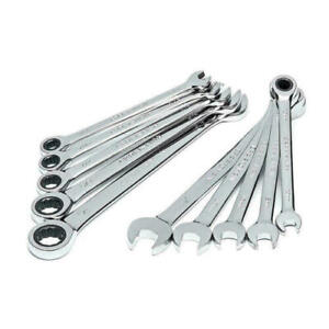 Craftsman 13321, 10 Piece Ratcheting Combination Wrench Set, Inch & Metric, NEW