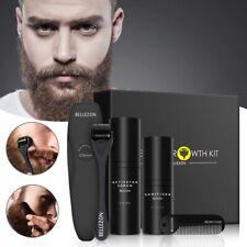 4Pcs Beard Growth Kit Hair Enhancer Oil Facial Mustache Fast Gift for Men Roller