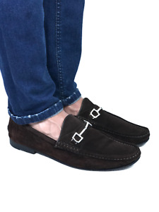 GUCCI men's brown suede horsebit loafers | Size 11 / US 11.5 (30 cm/11,8 in)