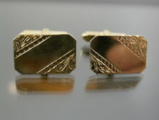 VINTAGE 9ct GOLD TORPEDO CUFFLINKS 1989 cuff links