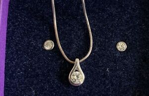 Sterling Silver Necklace And Earring Set THREADS Jewellery