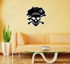 "Pirate Jolly Roger Piracy Skull Wall Sticker Room Interior Decor 22""X22"""
