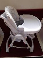 kinderhochstuhl holz h henverstellbar ebay. Black Bedroom Furniture Sets. Home Design Ideas