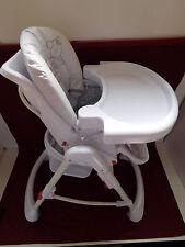 Kinderhochstuhl Babystuhl mit Sicherheitsgurt System, höhenverstellbar, klappbar