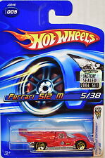 HOT WHEELS 2006 FIRST EDITIONS FERRARI 512 M #005 RED FACTORY SEALED