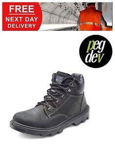 SAFETY FOOTWEAR BLACK SHERPA CHUKKA BOOT SHOE SIZES 6-12 HGSCBBLBS