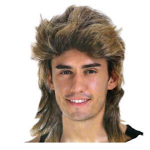 Mullet Wig Hair Costume Party Dress Up 70s 80s Aussie Bogan Rock - Golden Blonde