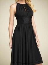 BEAUTIFUL JS BOUTIQUE BLACK BEADED LACE DETAIL EVENING COCKTAIL DRESS RRP £120!