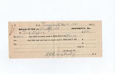 R. W. Daugherty signed 1920 work receipt Looneyville Smithfield Wv - Les Keffer