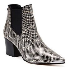 Mimco $349 Brand New Black Snake Embo Tribute Boots Flats Wedges Shoes 40 Or 9