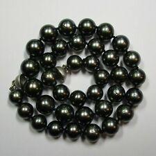 45,5 cm Tahiti-Zuchtperlen Collier 9,3 bis 12,1 mm mit Magnetschloss - 142-2811